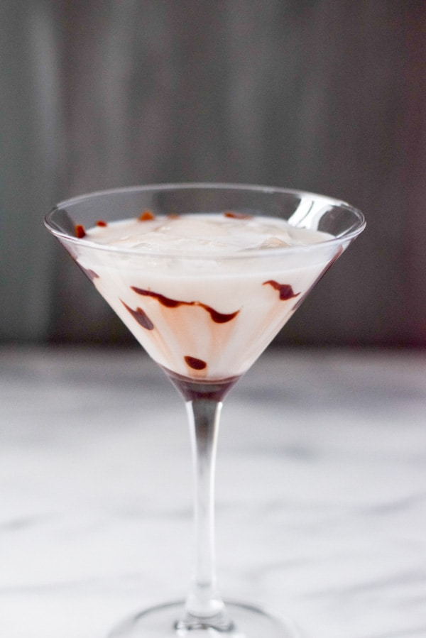 Marvelous Muddy White Chocolate Martini ready for imbibing