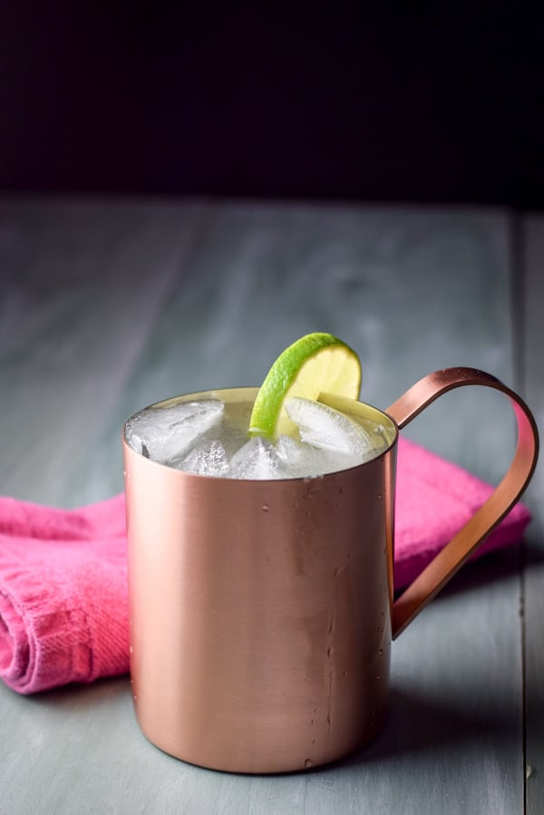 Refreshing Moscow Mule ready to be drunk