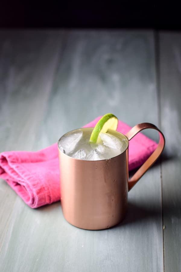 Refreshing Moscow mule ready to be imbibed