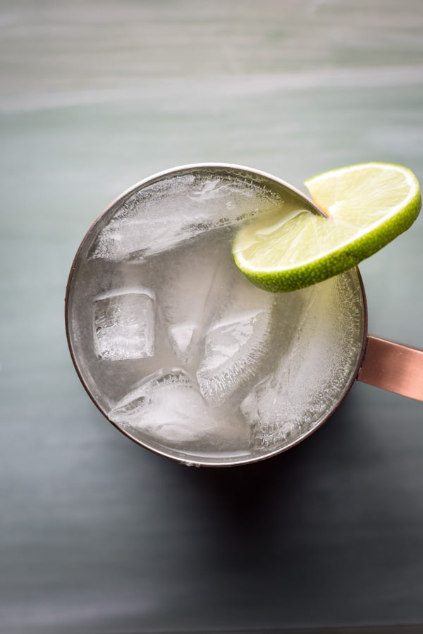 Arial view of the Moscow Mule Cocktail