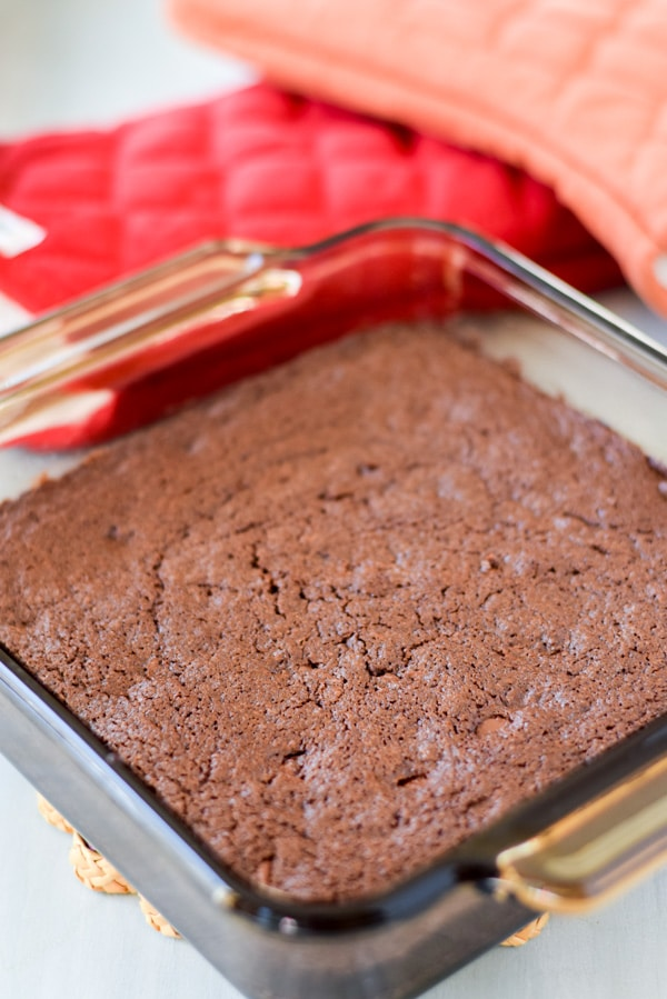 The best from scratch brownies that will make you cry all done and cooling
