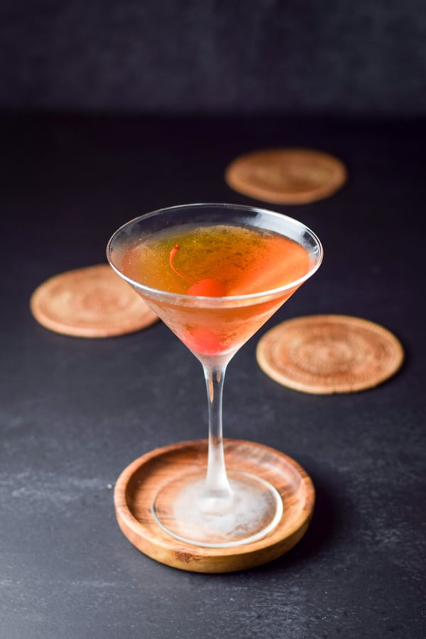 Roaring Rob Roy Cocktail ready to be imbibed