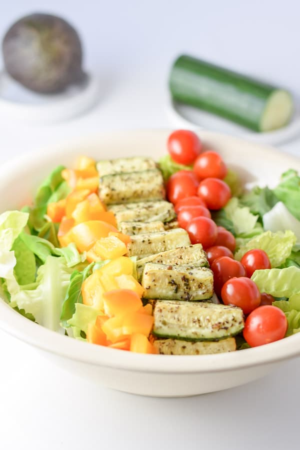 yellow pepper in the beautiful Boston lettuce vegetable salad