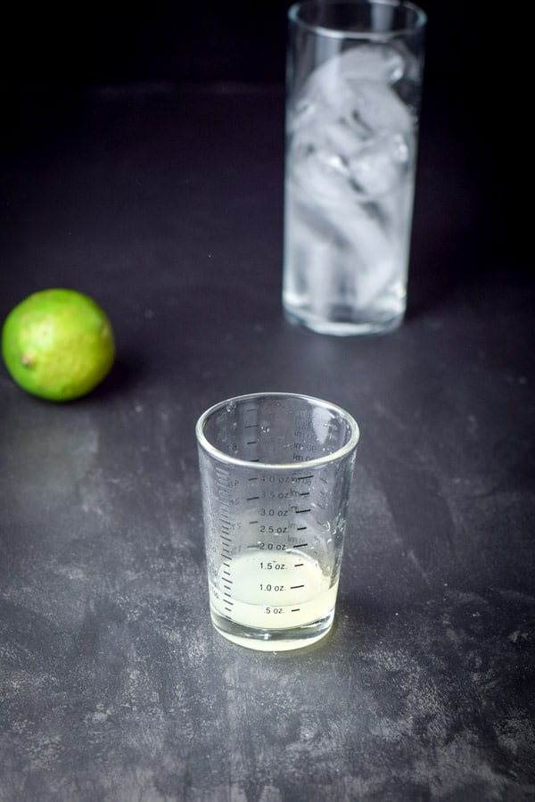 Lime juice for the great grapefruit Paloma cocktail