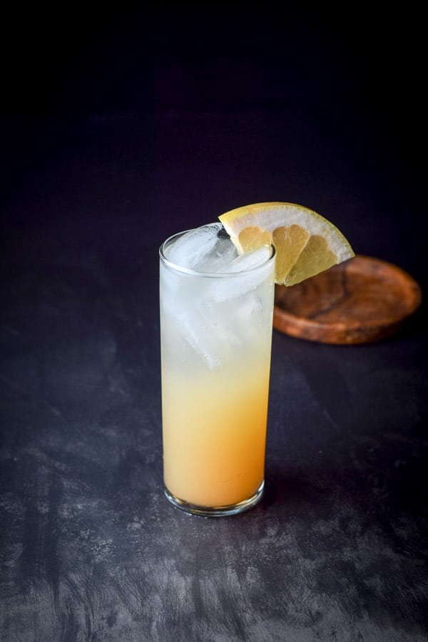 The great grapefruit paloma cocktail ready to be imbibed
