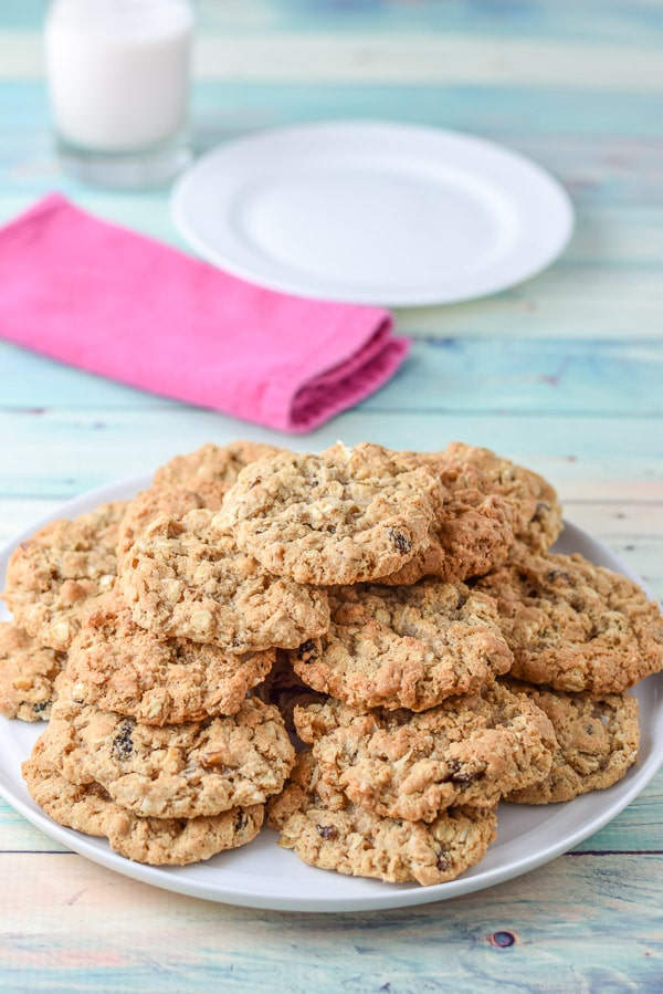 Pile of Addy's awesome oatmeal raisin cookies